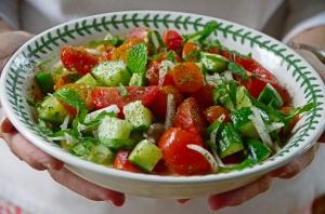 Lebanese Cucumber Tomato Salad